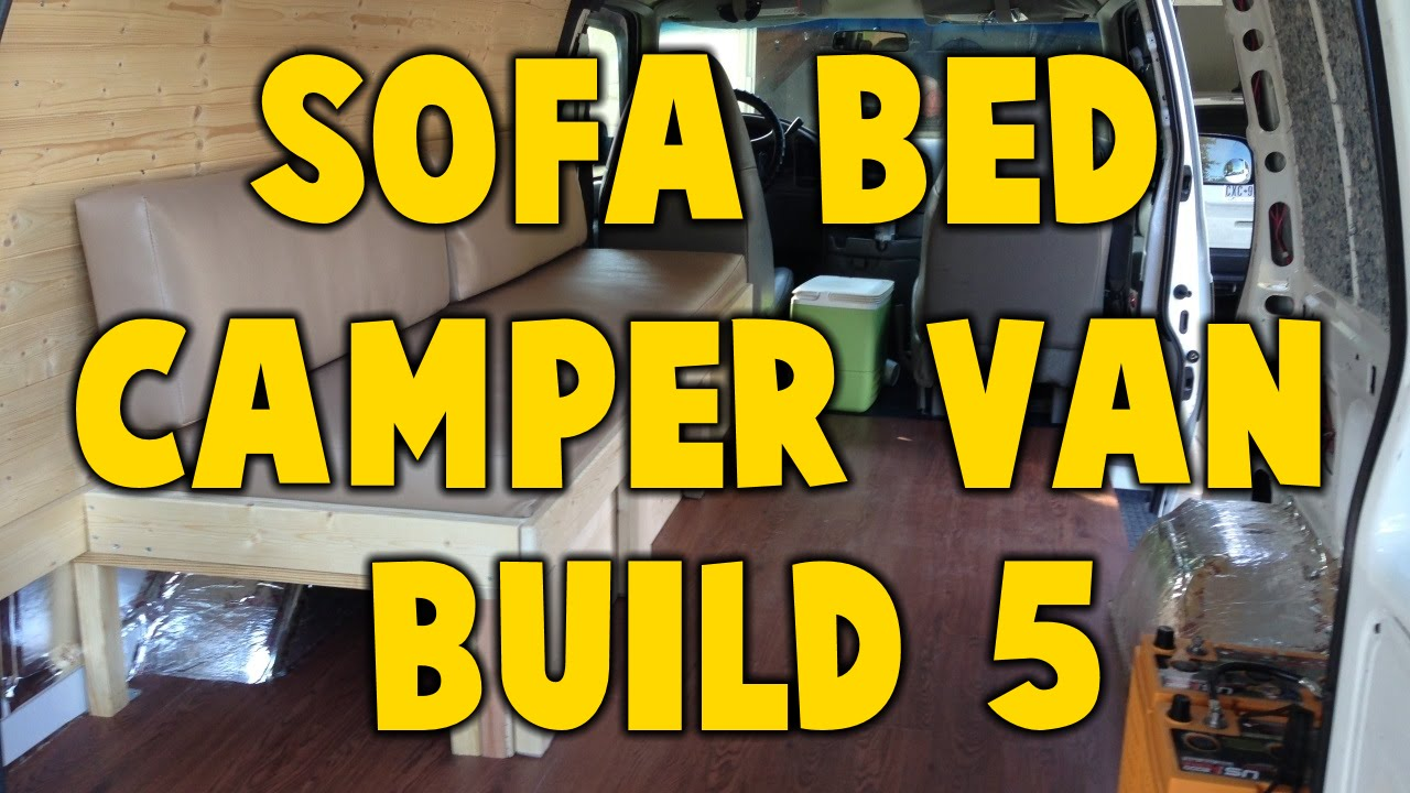 sofa beds for motorhomes grey leather sectional sofas astro camper van build 5 bed youtube