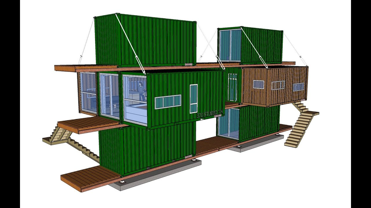 Xbox 1020 container house concept youtube for Concept home