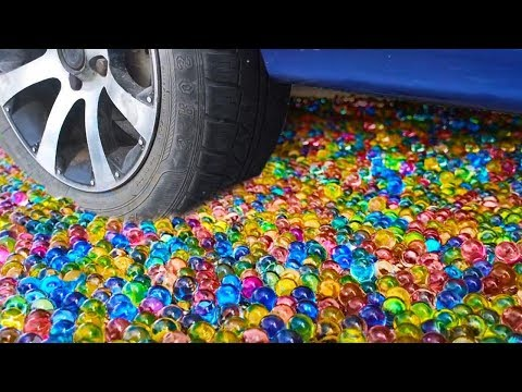 CAR VS 50,000 ORBEEZ - EXPERIMENT
