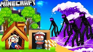 BAZA VS ENDERMAN TSUNAMI - MINECRAFT TSUNAMI CHALLENGE | Vito VS Bella