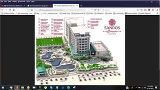 Sandos Cancun Lifestyle Map