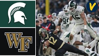 Michigan State vs Wake Forest Highlights | 2019 Pinstripe Bowl Highlights | College Football