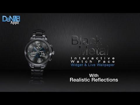 Black Metal Hd Watch Face Widget Live Wallpaper Apps On Google Play