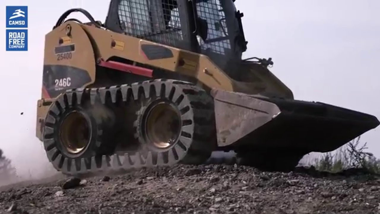 Skid Steer Loaders Tracked Performance With Camso Over
