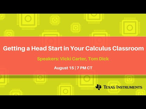 Getting a Head Start in Your Calculus Classroom
