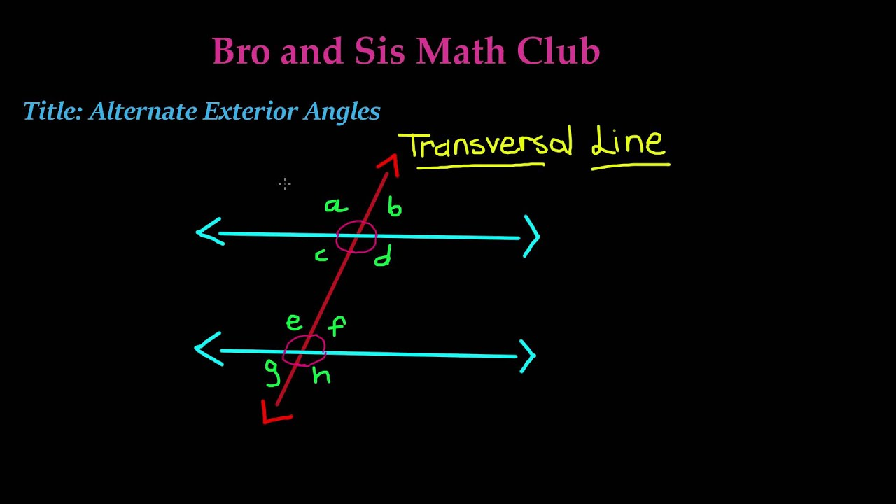 Alternate exterior angles 7th grade math youtube - Definition of alternate exterior angles ...