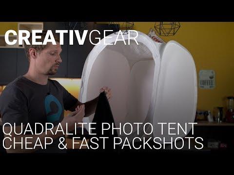 CREATIVGEAR - Photo Packshot Rapide Avec La Tente De Diffusion Quadralite 75x75cm