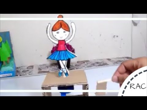 BALLERINA DANCING TOY FROM RECYCLED CARDBOARD BOX | TOYS FROM TRASH |RECYCLED ARTS AND CRAFTS-67