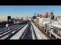 NYC Subway HD 60fps: R62A 7 Train Snowy Railfan Window Ride (Junction Blvd to Hudson Yards) 2/10/17