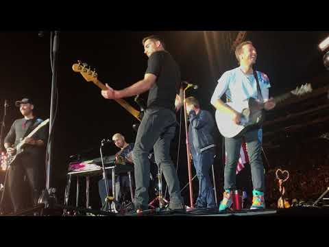 Coldplay performing Us Against The World with James Corden