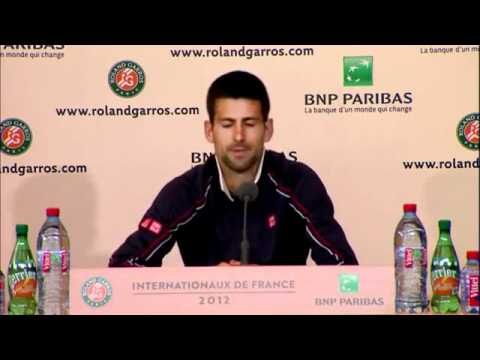 French Open 2012 - Djokovic - Press Conference on Final Defeat