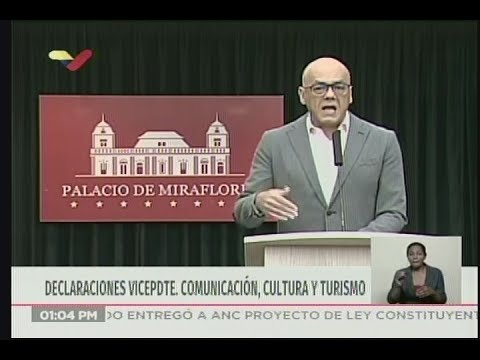 Jorge Rodríguez, rueda de prensa sobre capturados y solicitados por ataques al Sistema Eléctrico