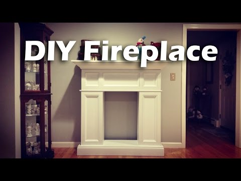 #DIY Faux Fireplace with Hidden Storage #woodproject