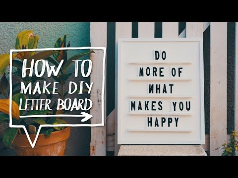 DIY LETTER BOARD | How to Make a DIY Letter + Message Board! ✨Alejandra's Styles