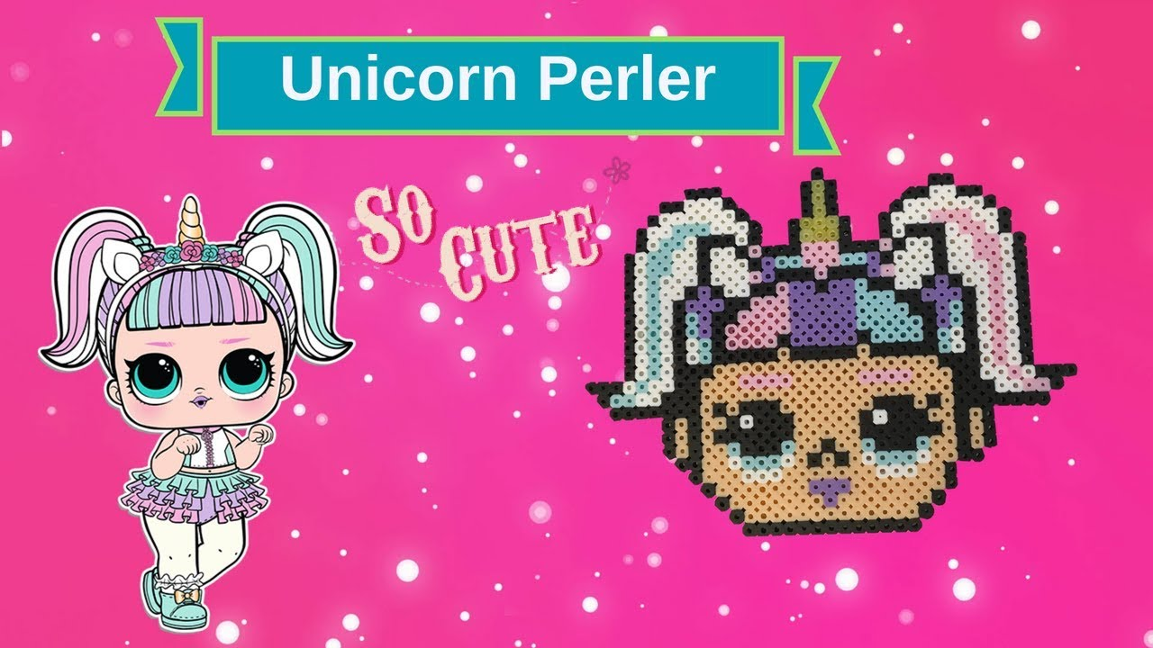 L O L Surprise Doll Unicorn Perler Bead Design Youtube