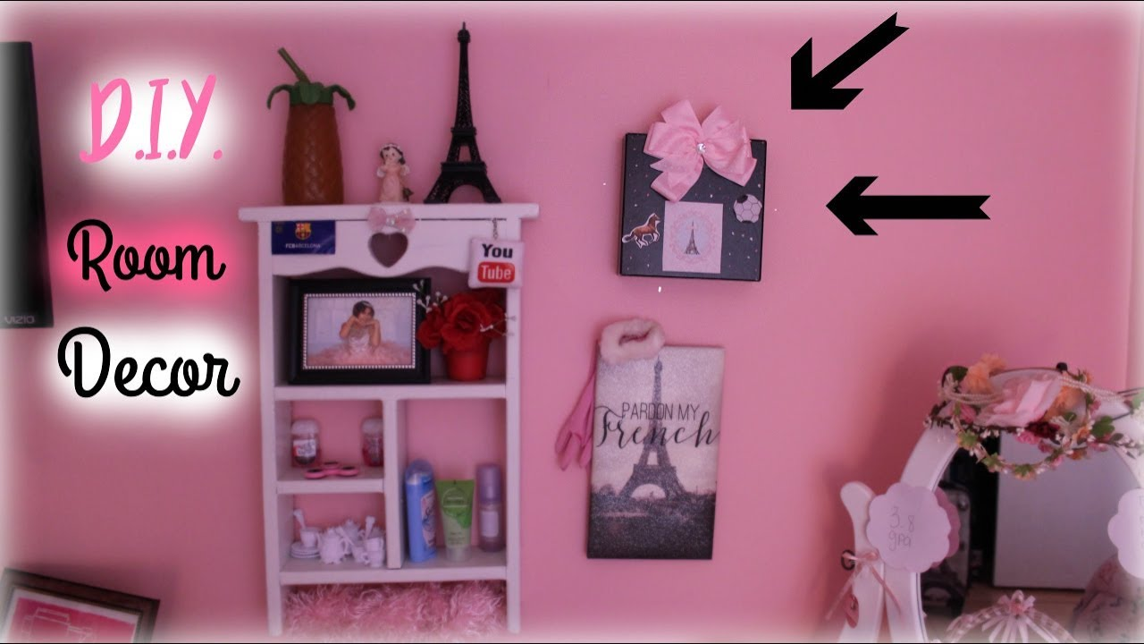 Diy Personalized Room Decor For Girls Cheap Easy Youtube