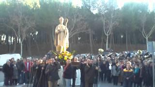 Procesión San Julián barrio Fuente del Oro 28-01-2012