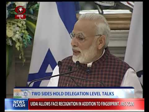 India and Israel sign nine MoUs in fields including energy, natural gas and air transport