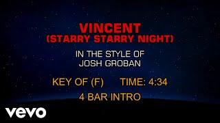 Josh Groban - Vincent (Starry Starry Night) (Karaoke)