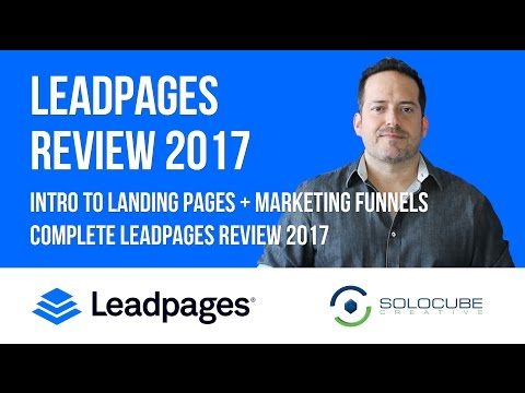 Leadpages Review 2017 - Intro to Landing Pages & Marketing F