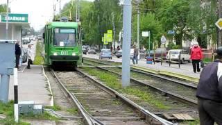 Робота автоматичної трамвайної стрілки в Коломиї