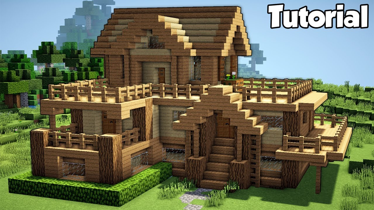 Minecraft Starter House Tutorial How To Build A House In
