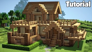 Minecraft: Starter House Tutorial - How to Build a House in Minecraft (Easy!)