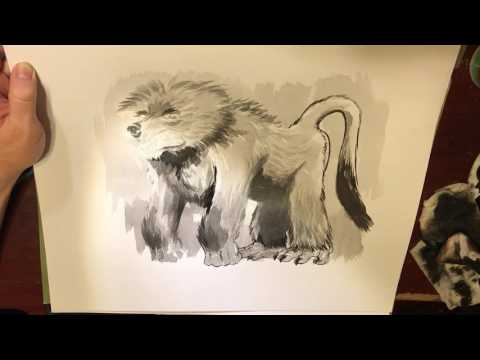 Bearboon in Sumi Ink by Ethan Nicolle
