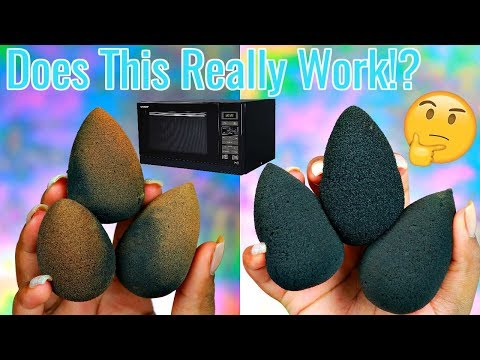 MICROWAVING YOUR BEAUTY BLENDER TO CLEAN IT!? 😱| Beauty Blender Hack!