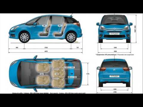 citroen c3 picasso dimensions youtube. Black Bedroom Furniture Sets. Home Design Ideas