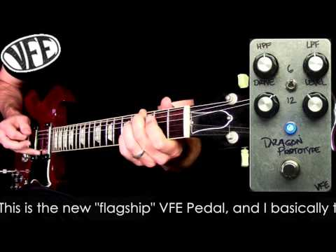 VFE Pedals prototypes - Standout, Dragon, and Pinball