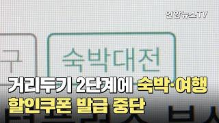 거리두기 2단계에 숙박·여행 할인쿠폰 발급 중단 / 연…