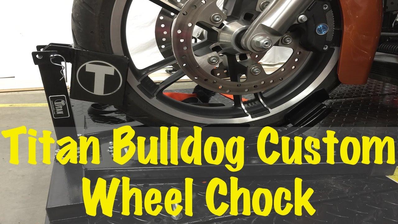 Titan Bulldog Custom Profile Motorcycle Wheel Chock Cradle Tutorial & Review | Buyers Guide - YouTube