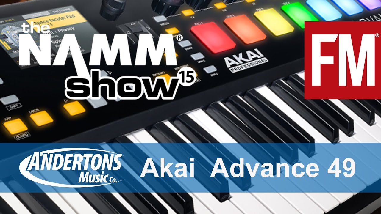 namm 2015 akai advance 49 keyboard controller youtube. Black Bedroom Furniture Sets. Home Design Ideas