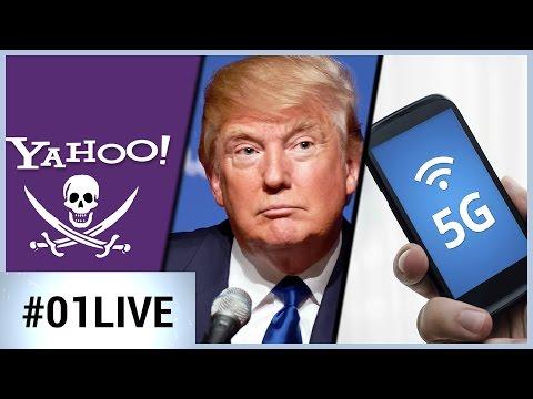 01LIVE HEBDO #124 Yahoo piraté, la 5G en approche, Trump Tech Summit