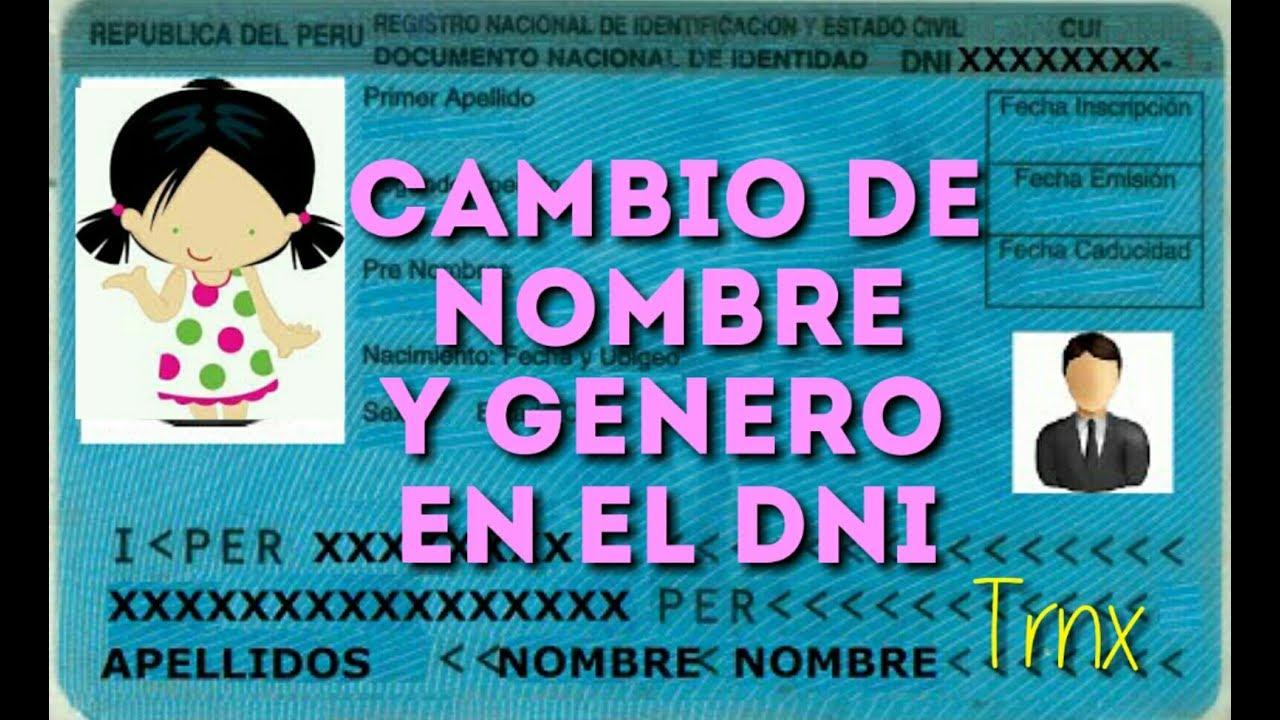 Cambio de Nombre y Genero en el DNI (Trans - Lima Peru) - YouTube