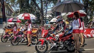 honda sonic 150r exhibition race hrc 2015 banjarbaru