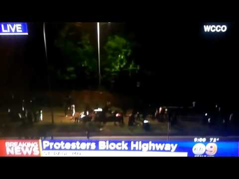 Protests Blocking a freeway in ST Paul,Minnesota