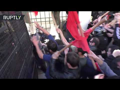 Greek students clash with police over teaching cuts