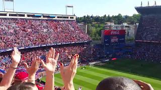 ATLÉTICO DE MADRID vs EIBAR - AFICIÓN Y EQUIPO UNIDOS TRAS EL PARTIDO