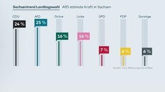INSA-UMFRAGE: CDU geschockt - AfD erstmals stärkste Kraft in Sachsen