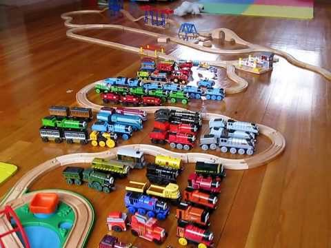 Thomas and Friends viewed from the air, ready to be bombed by golfballs