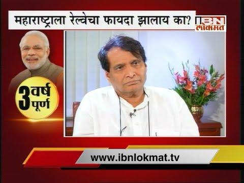 Exclusive Interview of Railway Minister Suresh Prabhu on 3 Years of Modi Government