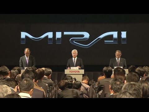 Japan Launch Event for Toyota 'Mirai' Fuel Cell Sedan