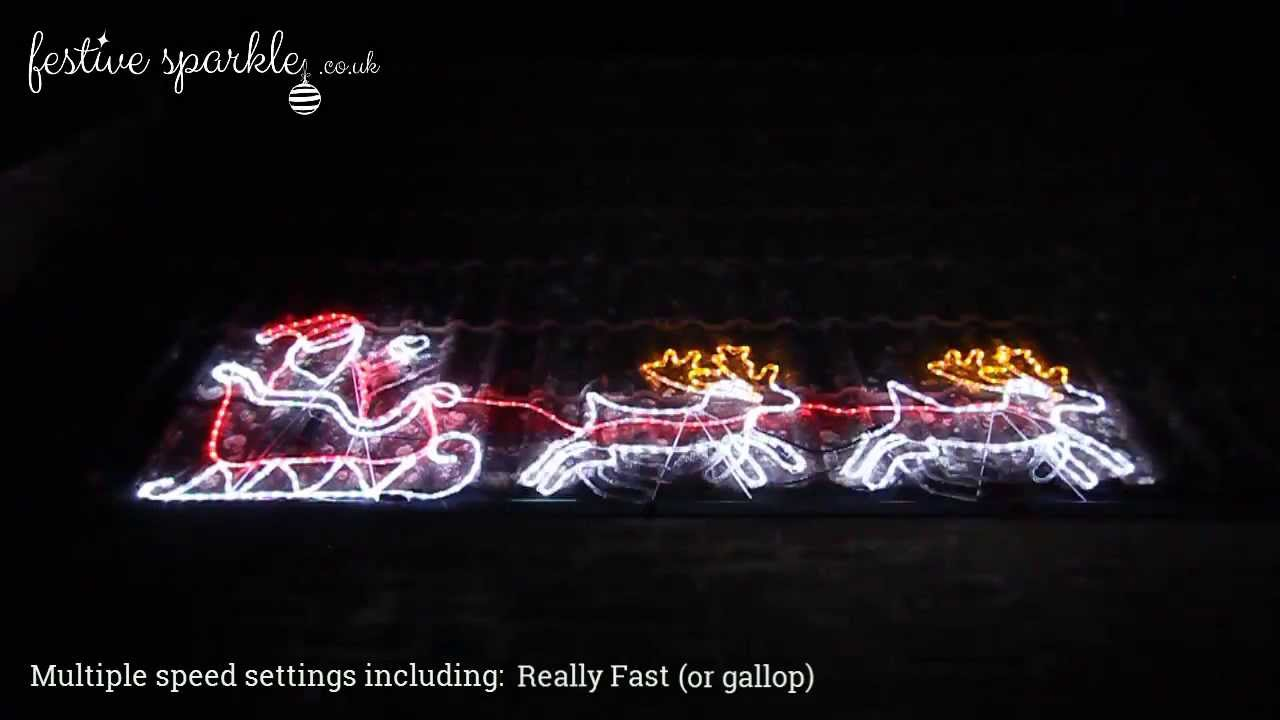 Waving santa on a sleigh rope light fs 22008004 youtube waving santa on a sleigh rope light fs 22008004 aloadofball Choice Image