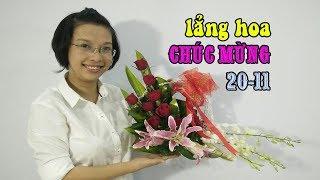 LẲNG HOA CHÚC MỪNG 20 11 Hoa Lan Hoa Hồng Hoa Ly Giá 300k