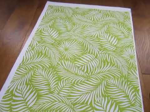 palm leaf textile design by Patrick Moriarty for Paisley Power brand