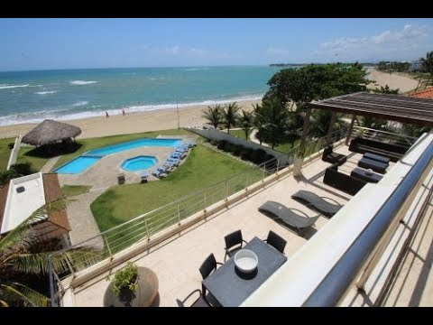 Spacious 6 bedroom beachfront penthouse in great location