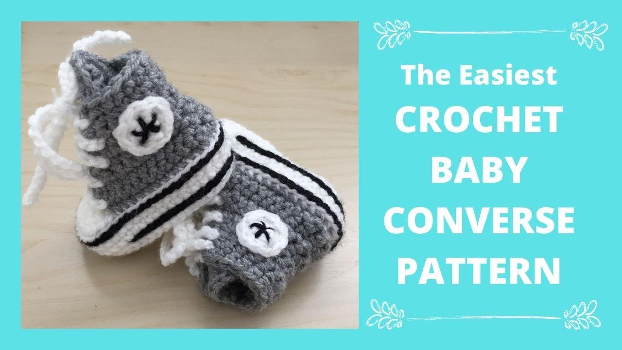 Crochet Converse Baby Booties
