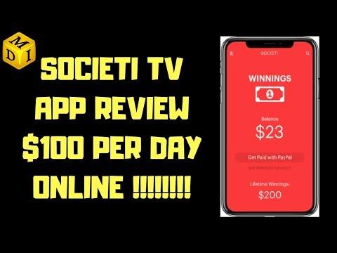 Societi TV App Review | Make Money Online 2019